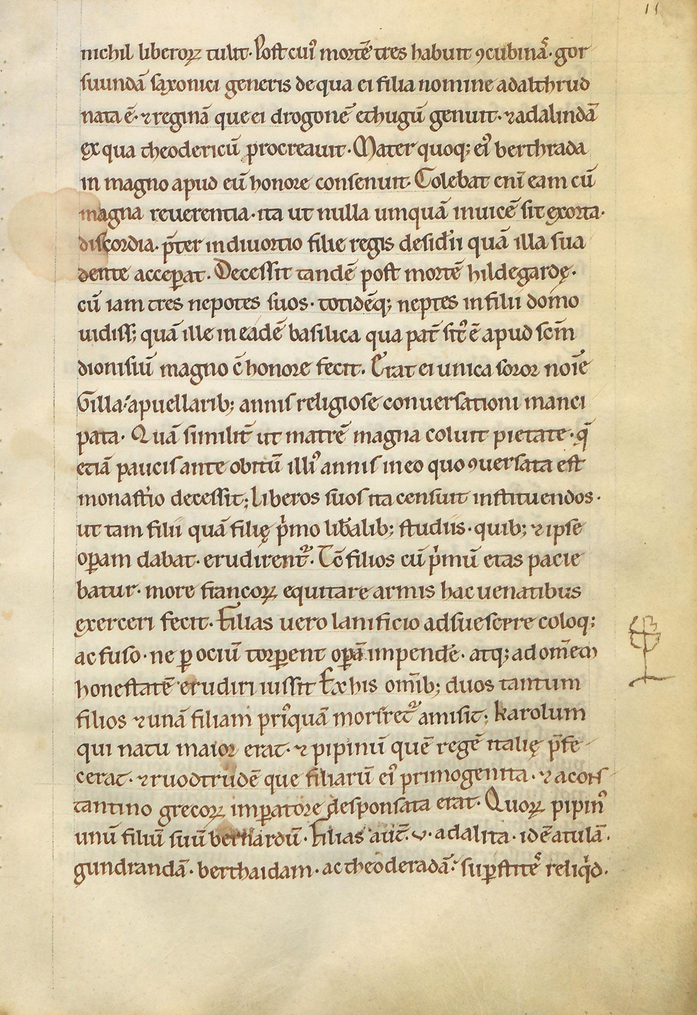 Manuscrit-Vita-Karoli-11r°