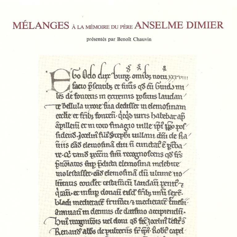 Mélanges Anselme Dimier, tome II